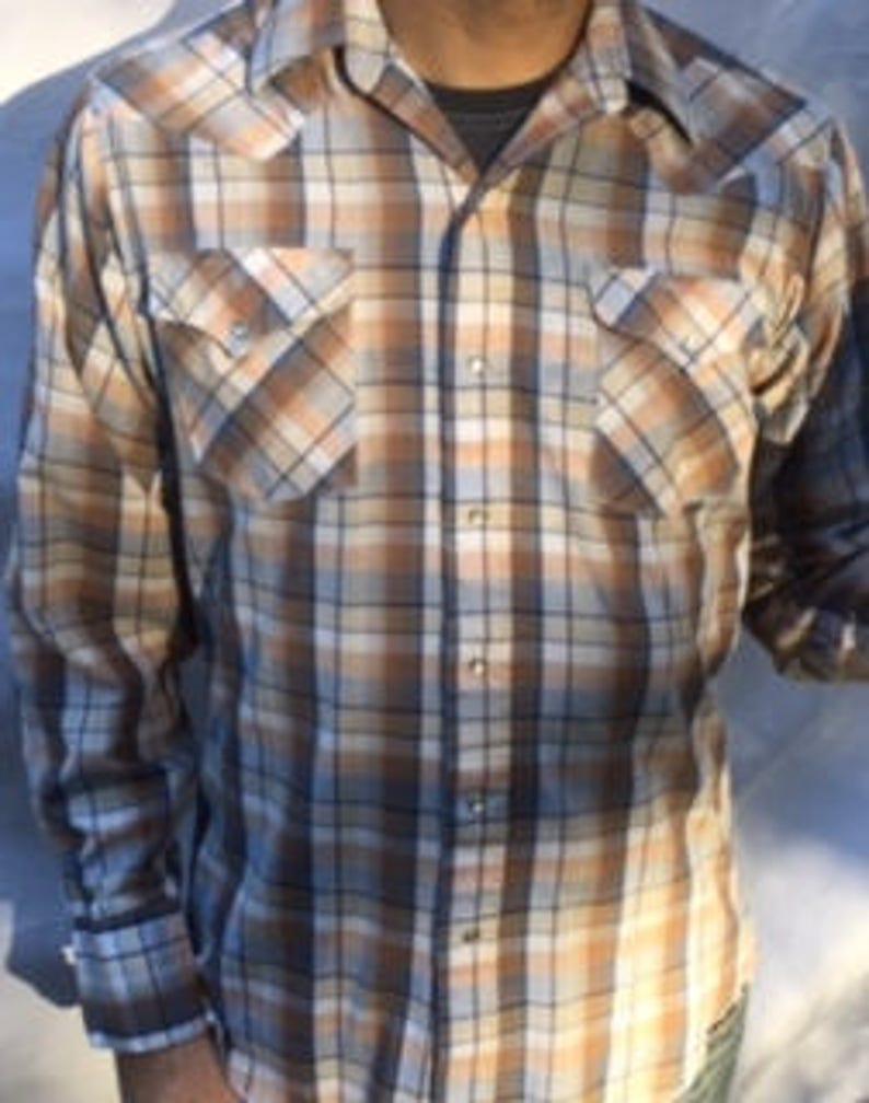 4f92b058 SALE Vintage Plaid PANHANDLE SLIM Brand Men's Long | Etsy