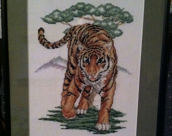 Magestic Tiger Framed Cross Stitch Picture