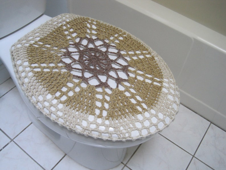 Incredible Crochet Toilet Seat Cover Or Tank Lid Cover Brown Light Brown Oatmeal Aran Tsc28M Or Ttl28M Cjindustries Chair Design For Home Cjindustriesco