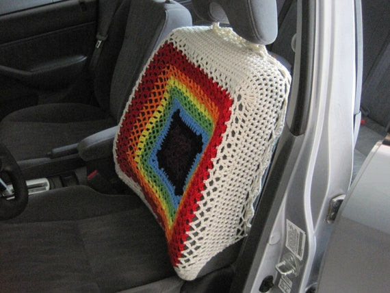 Car Seat Cover Crochet Car Front Seatback Cover Aran7 Etsy