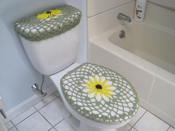 Remarkable Crochet Toilet Seat Cover Toilet Tank Lid Cover Black Eyed Susan Tsc25A Ttl25A Tsc26A Ttl26A Ocoug Best Dining Table And Chair Ideas Images Ocougorg