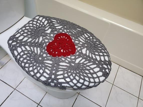 Amazing Crochet Toilet Seat Cover True Grey Burgundy Or Dark Red Tsc11D Unemploymentrelief Wooden Chair Designs For Living Room Unemploymentrelieforg