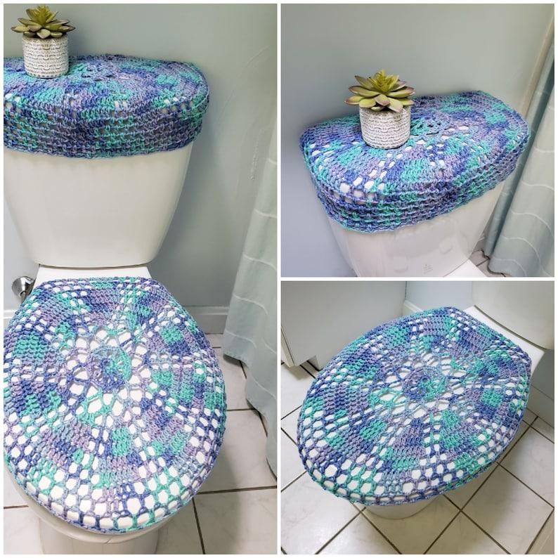 Crochet Toilet Seat Cover.Crochet Toilet Seat Cover Or Tank Lid Cover Ocean Tsc28n Or Ttl28n