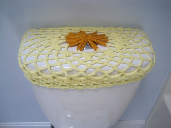 Marvelous Crochet Toilet Seat Cover Toilet Tank Lid Cover Black Eyed Susan Tsc25A Ttl25A Tsc26A Ttl26A Ocoug Best Dining Table And Chair Ideas Images Ocougorg