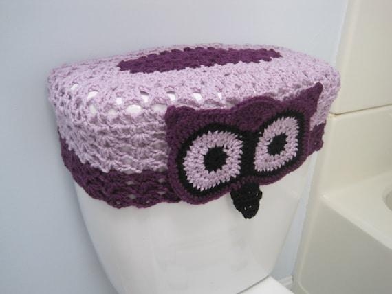 Remarkable Crochet Owl Toilet Tank Lid Cover Pale Plum Dark Orchid Black Ottl1C Dailytribune Chair Design For Home Dailytribuneorg