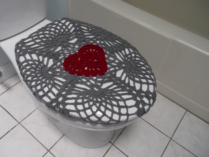 Fine Crochet Toilet Seat Cover True Grey Burgundy Or Dark Red Tsc11D Unemploymentrelief Wooden Chair Designs For Living Room Unemploymentrelieforg