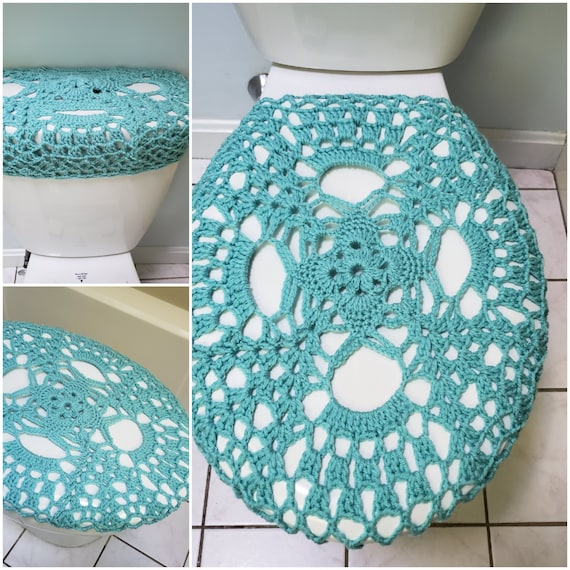 grapes TSC8i or TTL8i bathroom decor Toilet seat cover tank lid cover Crochet toilet seat cover