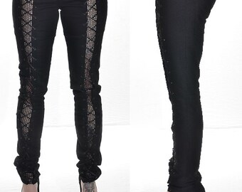 e55c678ca1e Cotton pants with lacing