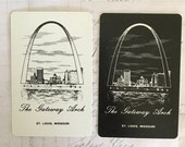 Swap CARDS 2 Vintage St. Louis, Missouri Gateway Arch Playing Cards Great for Mixed Ephemera for Collage, Scrapbooking, Journals