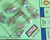Monopoly Game pieces 10 Vintage Monopoly Game tokens for Crafts, Altered Art, Mixed Media, Shadow Boxes, etc.