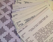 Library Catalog Cards 50 Vintage Library Cards Great for Weddings, parties, Card Making, Journals, Mixed Media, Collage