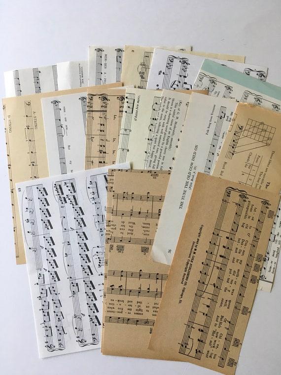 Junk Journal Craft Scrapbooking 30PC Old Sheet Music Ephemera Full Pages