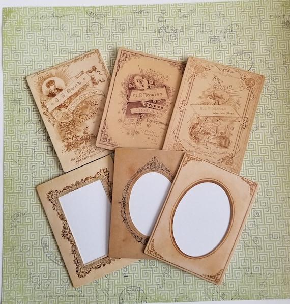 Tim Holtz Frames 6 Vintage Style Mini Cabinet Cards 3 Etsy