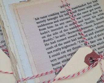 100 Book Pages Mixed Media / Vintage Novel Pages / Vintage Book Pages Paper Ephemera for Collage, Altered Art