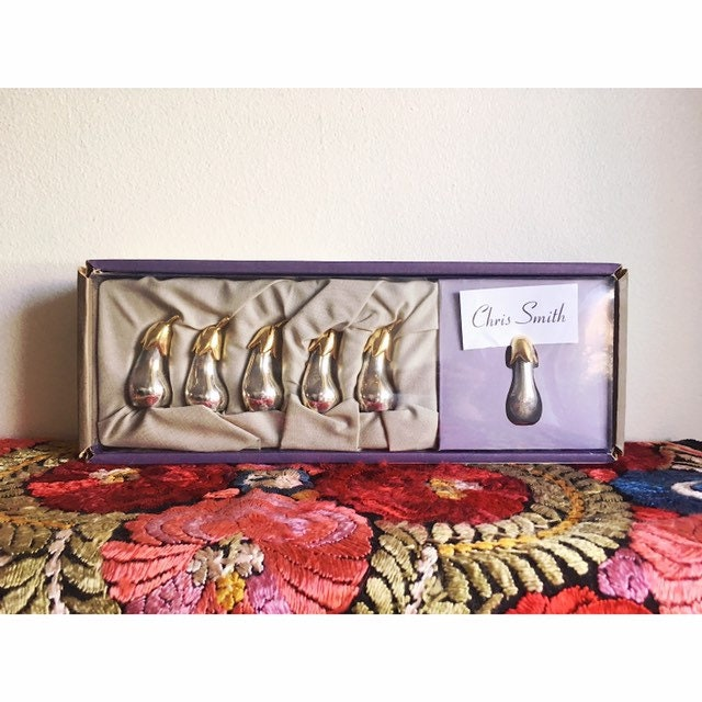 Silver and Gold Eggplant card holder