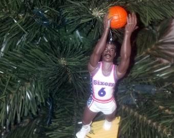 Dr. J Julius Erving Allen Iverson Manute Bol Philadelphia 76ers custom  basketball christmas sports ornament a3ce1da72