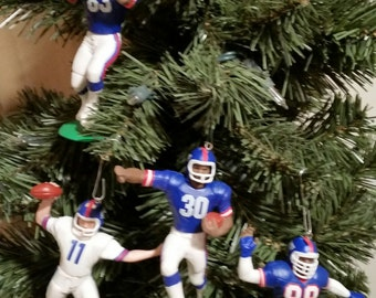 Phil Simms Jeff Hostetler Odessa Turner Dave Meggett Seehorn New York  Giants football sports ornament many to choose from 0b5ac65ce
