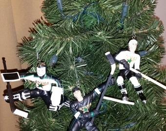 Ed Belfour or Mike Modano or Darien Hatcher Dallas Stars PLEASE SEE DESCRIPTION hockey christmas ornament