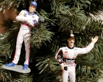 Dale Earnhardt Sr. and or Jr.  Nascar Christmas ornament many to choose from.