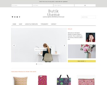 WordPress Ecommerce Theme - Genesis Child Theme - Ecommerce WordPress Theme - Responsive WordPress Theme - Woocommerce Theme: Butik