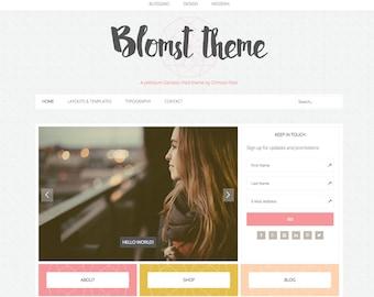 WordPress Ecommerce Theme -  Genesis Child Theme - Ecommerce WordPress Theme - Responsive WordPress Theme - Woocommerce Theme: Blomst