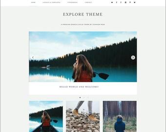 WordPress Theme - Genesis Child Theme - Responsive WordPress Theme - Blog theme template: Explore