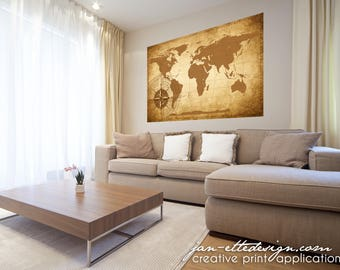 World map decal etsy large world map wall decalmap wall stickerremovable fabric wall decalliving room wall decor gumiabroncs Images