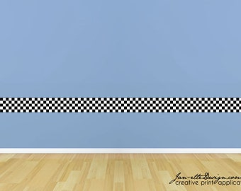 Kids Road Border,Dirt Road Wall Border fabric Sticker,Removable and Repositionable Wall Border