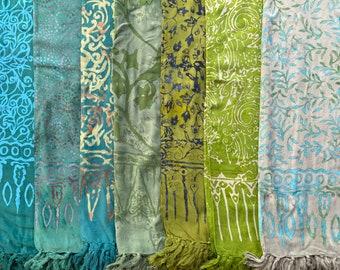 Batik Pareo (greens) - Sarong Beach Wrap Cover Up Towel