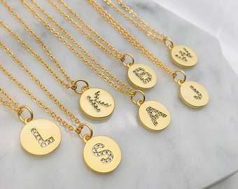 Personalized Initial Gold Necklace   Dainty Personalized Name Necklace   Letter Necklace   Gifts for Sister, Best Friends, Mom, Bridesmaids