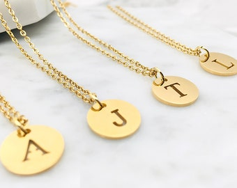 Personalized Initial Charm Necklace   Dainty Gold Jewelry for Her   Custom Initial Necklace Gifts for Sister   Gifts for Mom, Friends, Aunt