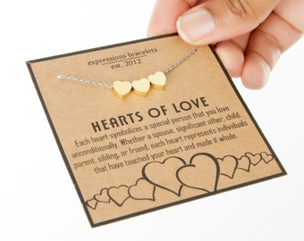 Tiny Gold Heart Necklace   Personalized Gift Idea for Mom   Dainty Symbol Necklace   Friendship Gift for Bestie   Gift for Anniversary