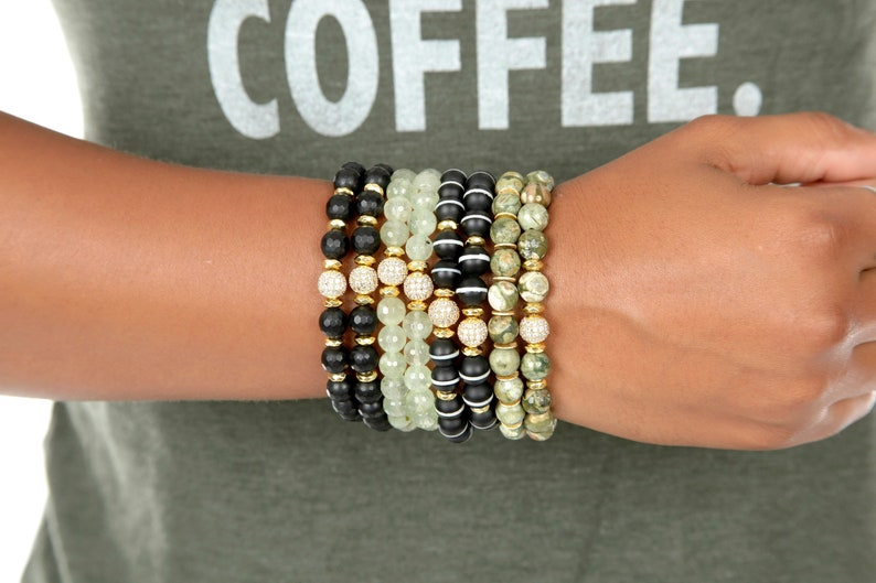 Beaded Bracelets Gemstone Stacked Stacking Bracelets for Women for Her Natural Stone Expressions Bracelets Fashion Accessories