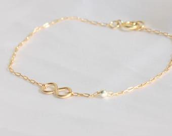 Friendship, friendship bracelet, figure 8 bracelet rose gold infinity bracelet best friend bracelet, best friend jewelry friendship bracelet