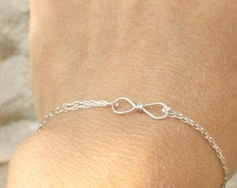 Friendship, friendship bracelet, infinity bracelet, Gold infinity bracelet, best friend bracelet - Rose gold tiny infinity bracelet