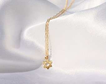 Gold star of david etsy star of david teeny tiny gold star of david necklace gold star of david aloadofball Images