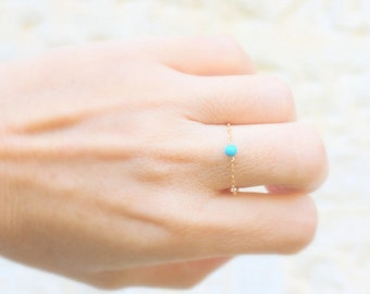 Gold Turquoise Ring, Gold Filled Turquoise Ring, Turquoise Ring Gold, Turquoise Stacking Ring, Dainty Ring, Stackable Ring, Delicate Ring