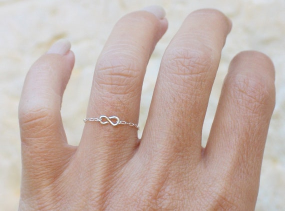 Mini Swirl Ring Silver  Simple swirl ring Classic and dainty handmade jewellery from London. Friendship and infinity ring