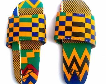 461b24e238e67 Kente shoes | Etsy