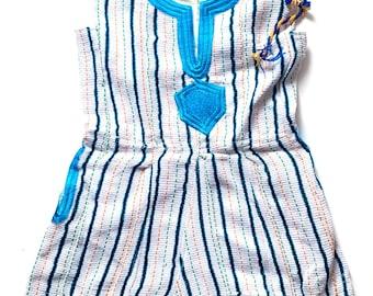 Female Bakatari Dress Pink Neck Sleeveless Fugu Dress,Ghanaian Fugu,Northern Female Smock Jenda Smock Blouse African Clothing