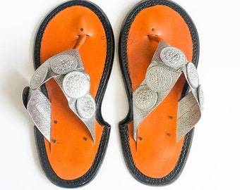 Silver Ahenema (Traditional Ghanaian Slippers)