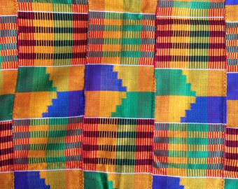 Traditional Hand Woven Ashanti Kente Cloth (Various Sizes)
