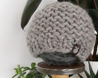 Chunky Children's Toque - Wool Winter Hat - Garter Stitch - Custom Order - Hand Knit by Seedling Yarn