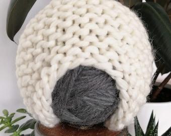 Garter Stitch Earflap Children's Toque - Chunky - 100% Wool - Garter Stitch - Hand Knit by Seedling Yarn