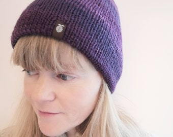 Free Shipping - Double Layered Merino Wool Toque - Adult - Washable - Fitted - Hand Knit by Seedling Yarn