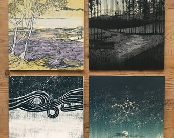 Four Art Print Greetings Cards byJon Mackay