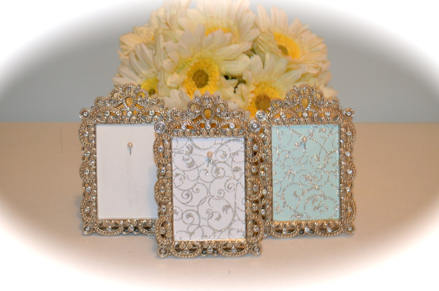 Engagement Amp Wedding Ring Picture Frame Ring Holder 2 5 Etsy