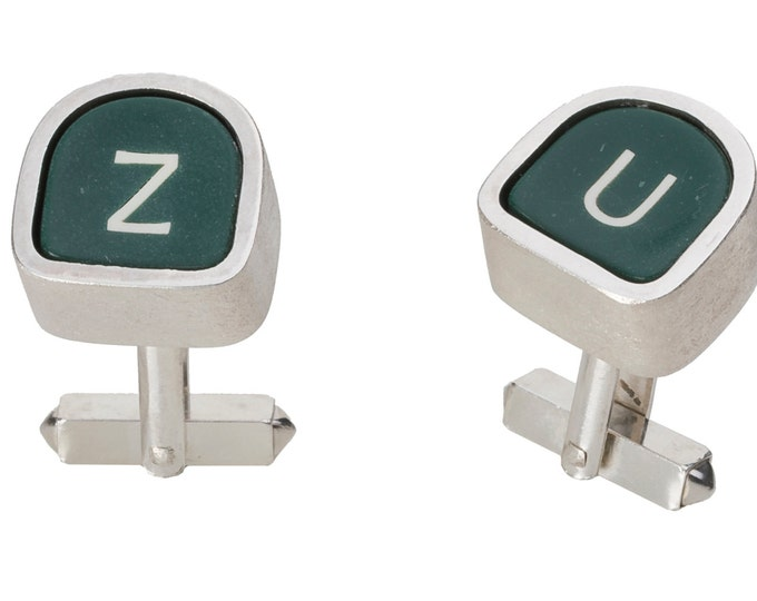 Cufflinks, 925/000 silver, original typewriter keys.