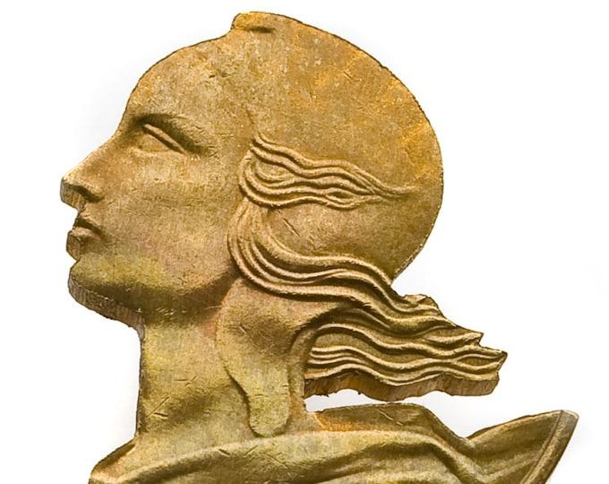 Pin, 925/000 silver, brass.