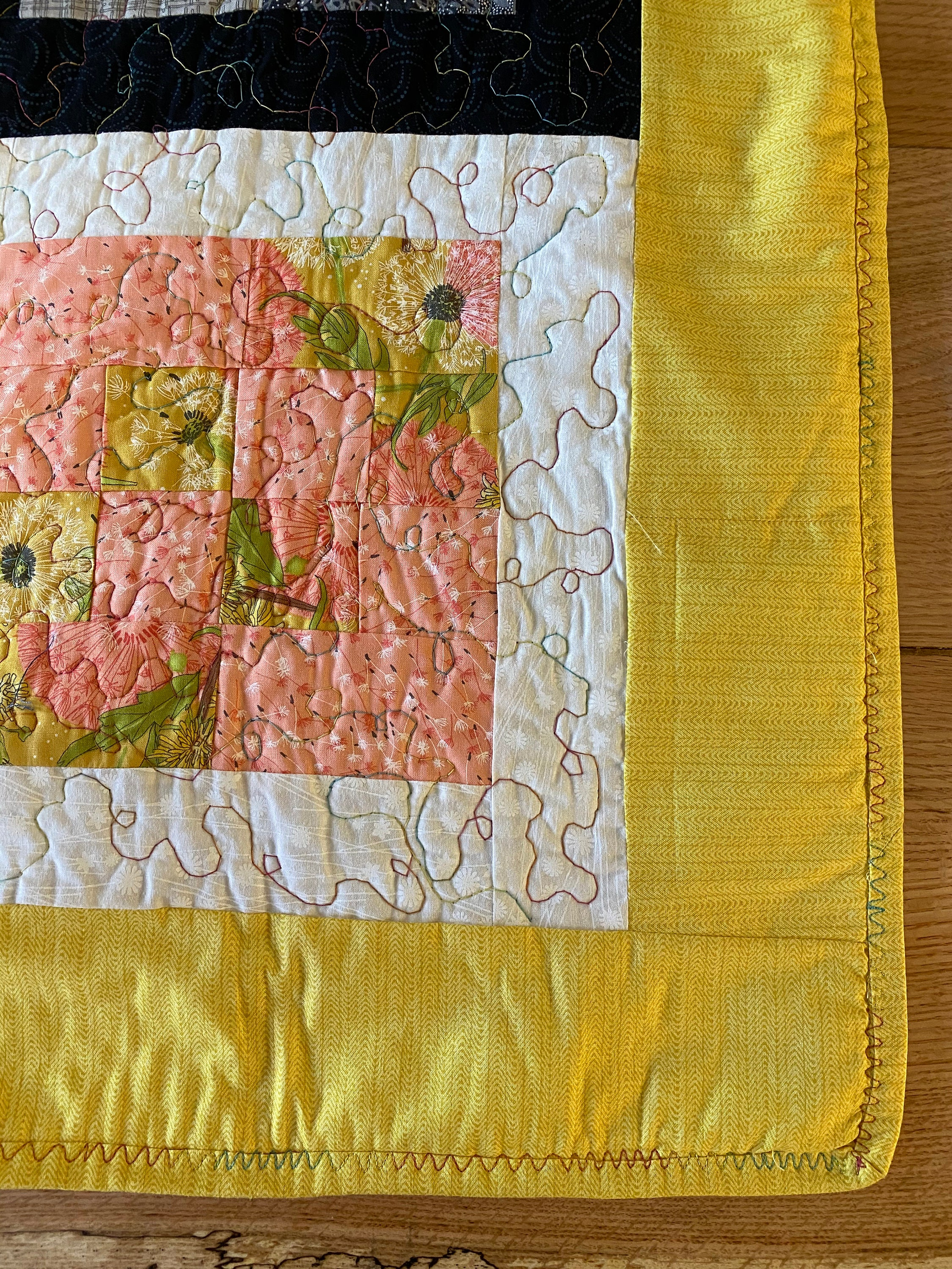Handgemachte 16 Patch Gold Grenze Quilt